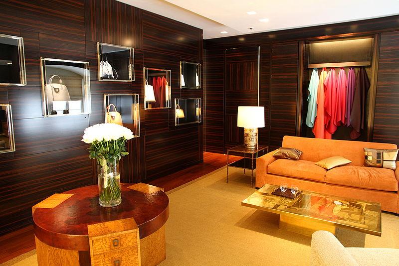 La salle VIP du magasin Louis Vuitton à Vienne